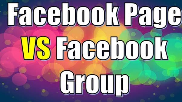 Facebook page versus Facebook group
